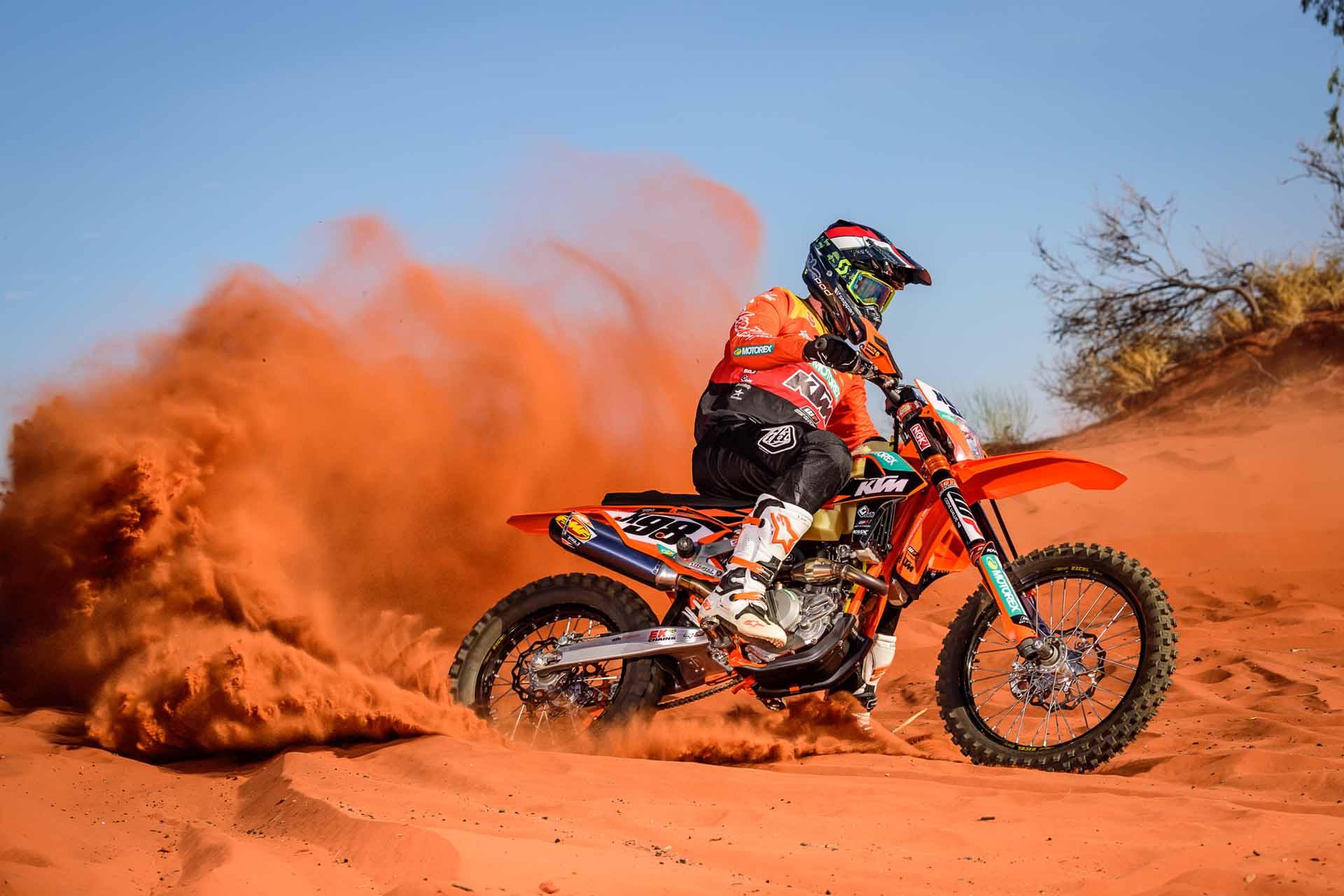 Carrera para motos en Marruecos