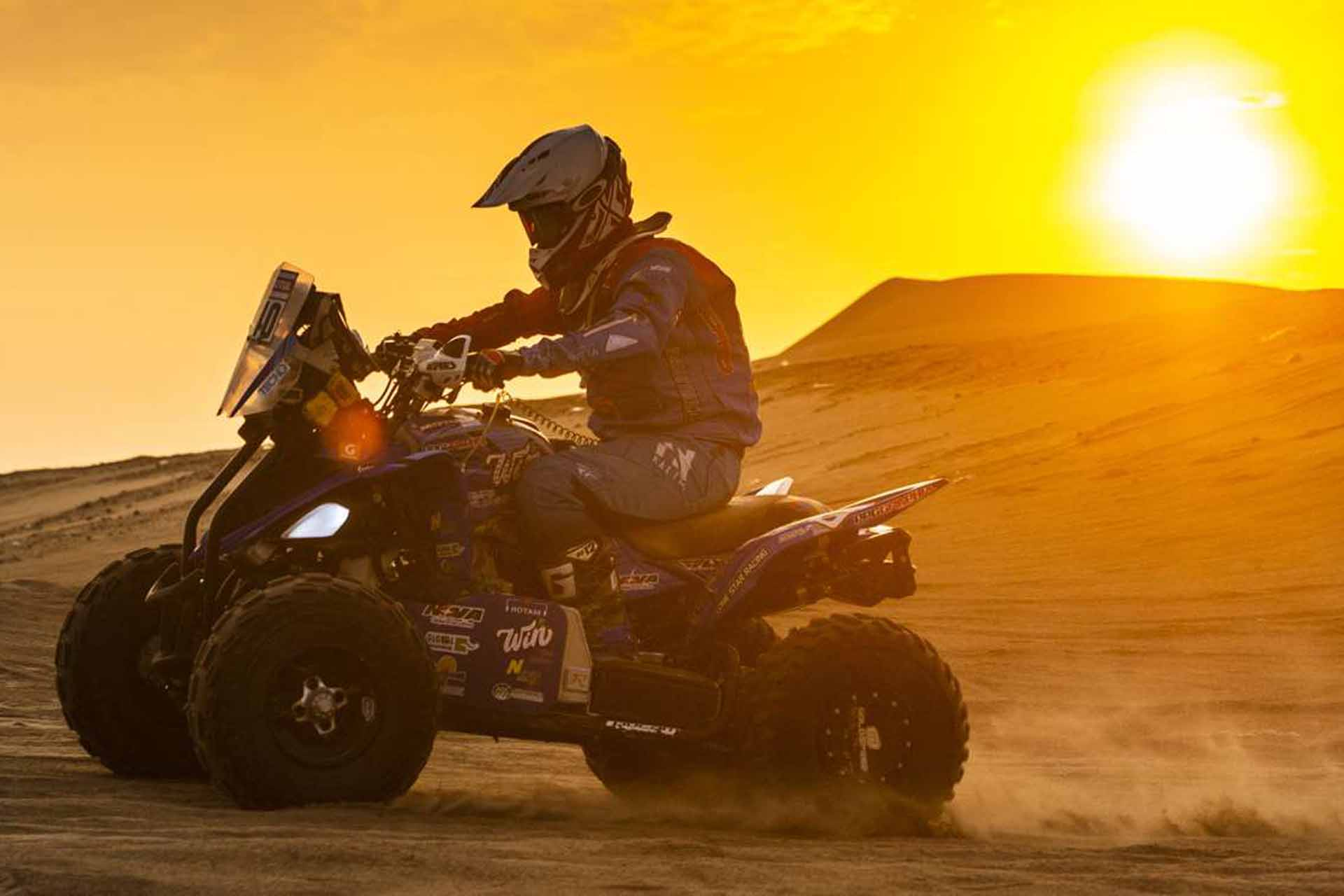 Carrera para quads en Marruecos